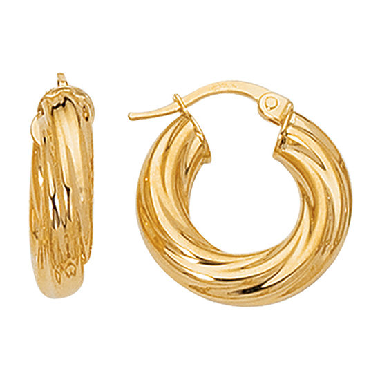 14k Gold 216mm Hoop Earrings