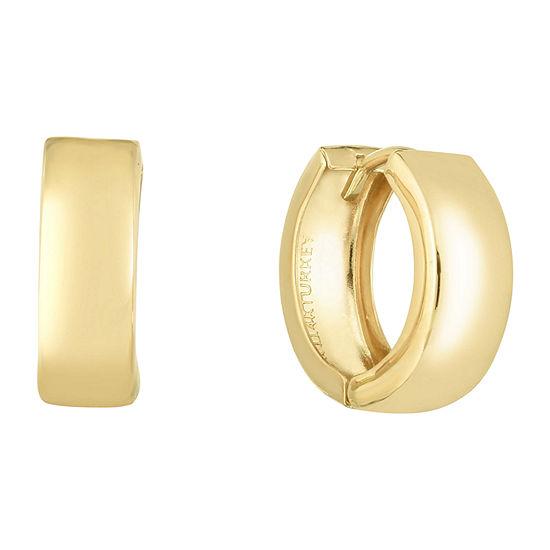 14K Gold 13.6mm Hoop Earrings
