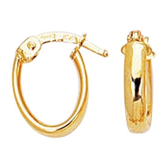 14K Gold 16.9mm Hoop Earrings