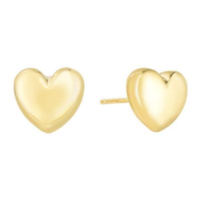 14K Gold 10.2mm Stud Earrings