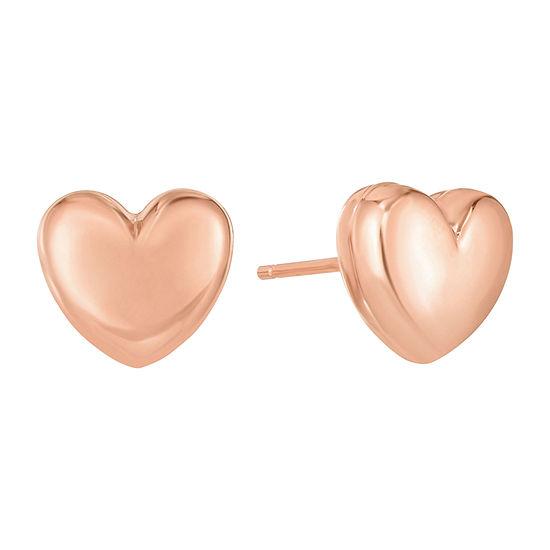 14K Rose Gold 10.2mm Stud Earrings