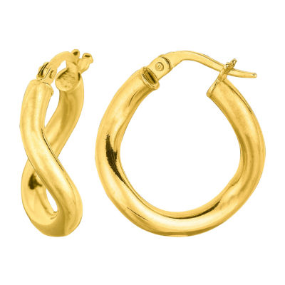 14K Gold 22.3mm Hoop Earrings