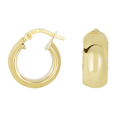 14K Gold 17.8mm Hoop Earrings