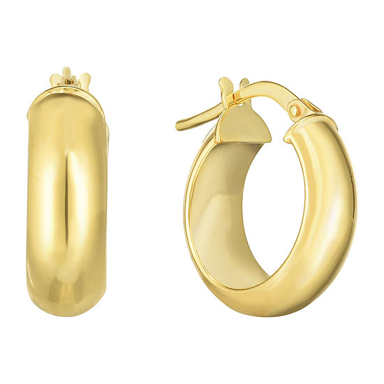 14K Gold 16.2mm Hoop Earrings