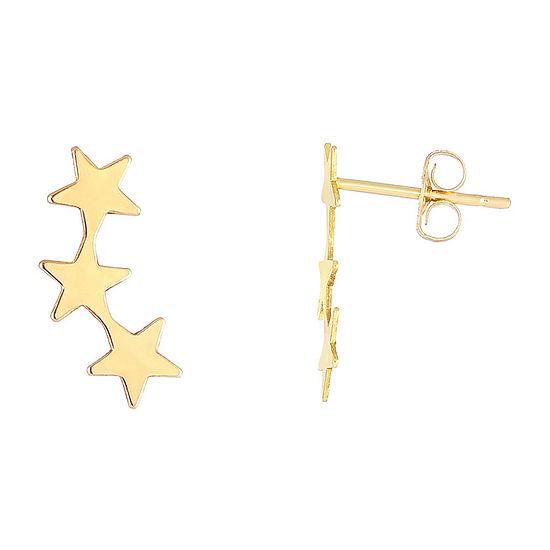 14k Gold Ear Climbers