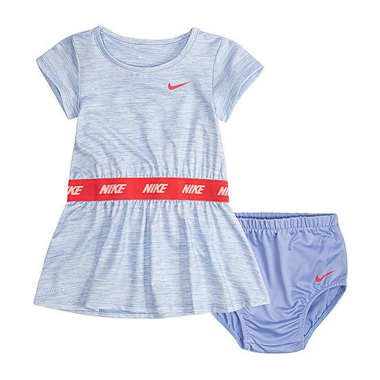 2332000bd Nike Short Sleeve Logo T-Shirt Dresses Baby Girls - JCPenney