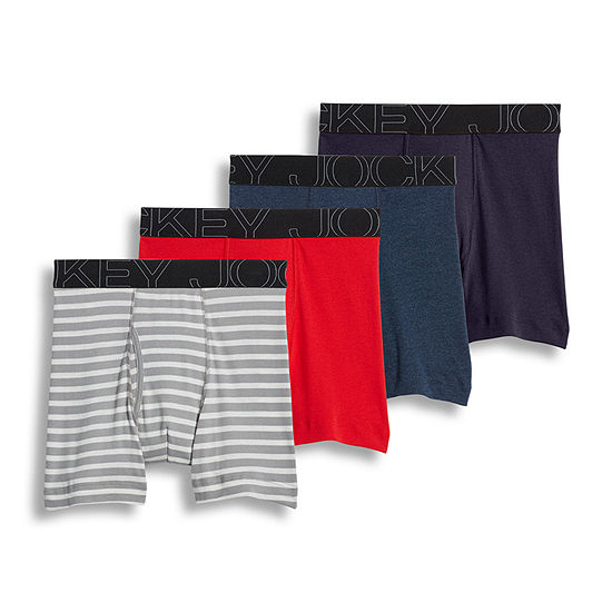 Jockey® 4 Pair ActiveBlend® Boxer Brief - Men's