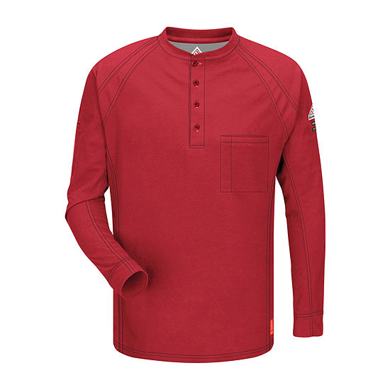 Bulwark® Flame-Resistant Long-Sleeve Henley Tee – Big & Tall