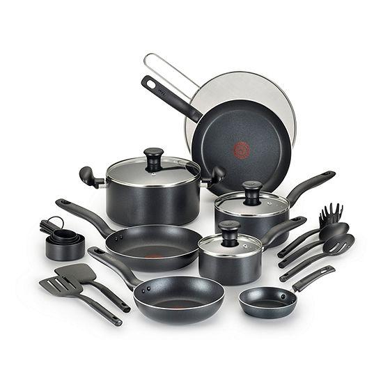 T-Fal 20-Pc. Cookware Set 20-pc. Aluminum Non-Stick Cookware Set