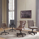 Signature Design by Ashley® Button-Tufted Upholstered Home Office Swivel Desk Chair
