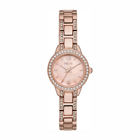 Relic By Fossil Womens Rose Goldtone Bracelet Watch - Zr34507, One Size , No Color Family