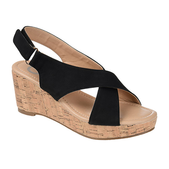Journee Collection Womens Jenice Wedge Sandals
