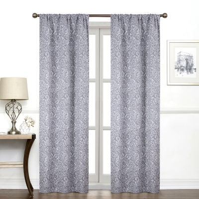 Regal Home Collections, Inc. York Paisley Light-Filtering Rod-Pocket Single Curtain Panel