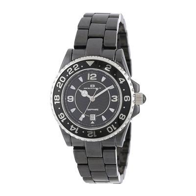 Oceanaut Womens Black Ceramic Bracelet Watch