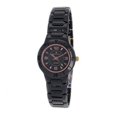 Christian Van Sant Womens All-Black Ceramic Bracelet Watch