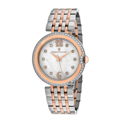 Christian Van Sant Jasmine Womens Two-Tone Bracelet Watch