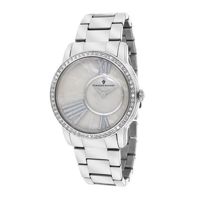 Christian Van Sant Womens Exquisite Faux Pearl Watch