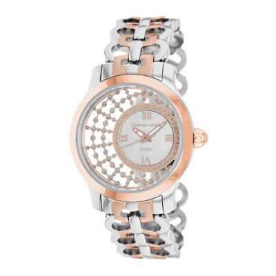 Christian Van Sant Womens Delicate White Faux Pearl Watch