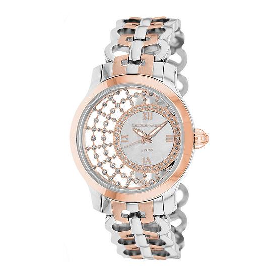 Christian Van Sant Womens Delicate White Faux Pearl Watch
