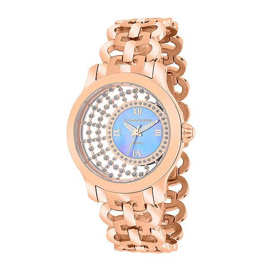 Christian Van Sant Womens Delicate Purple Faux Pearl Watch