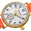 Akribos XXIV Velvet Womens Orange Leather Strap Watch
