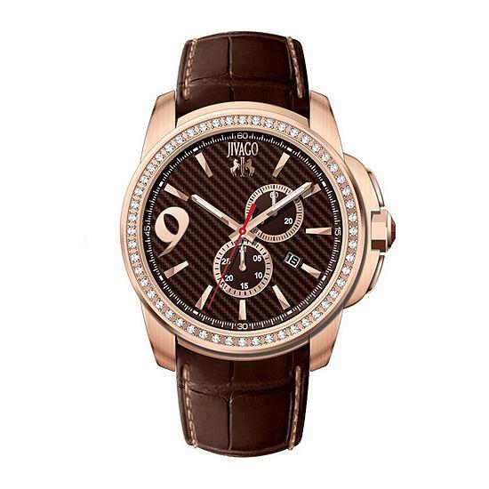 Jivago Gliese Mens Brown Leather Strap Watch