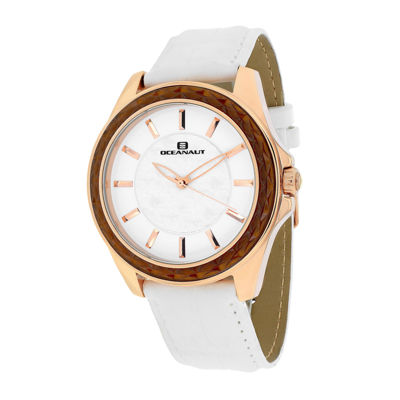 Oceanaut Womens Angel White Faux Pearl & Leather Strap Watch
