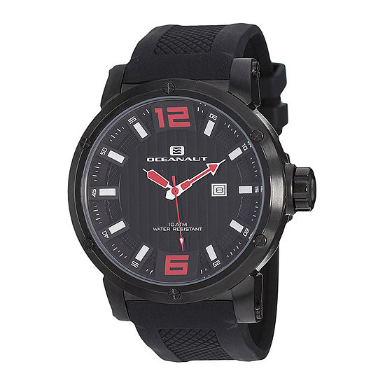 Oceanaut Spider Mens All Black Silicone Strap Watch