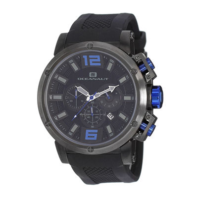 Oceanaut Spider Mens Black Silicone Strap Watch