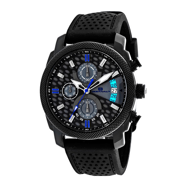 Oceanaut Kryptonite Mens Gray & Black Rubber Strap Watch