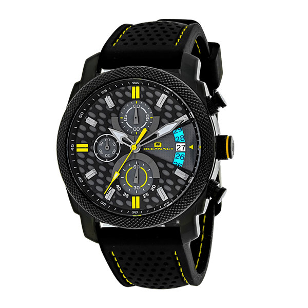 Oceanaut Kryptonite Mens Yellow & Black Rubber Strap Watch