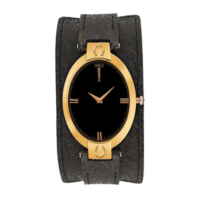 Jivago Good Luck Womens Brown Leather Strap Watch