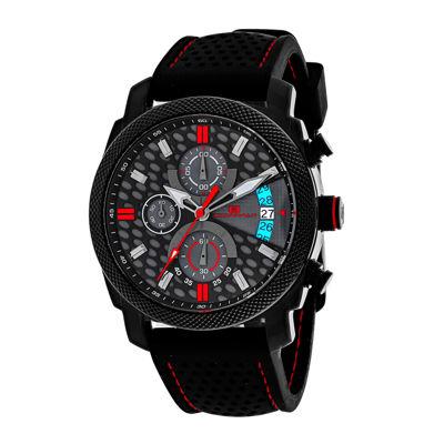 Oceanaut Kryptonite Mens Red & Black Rubber Strap Watch