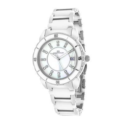 Oceanaut Charm Womens Mother-of-Pearl and White Ceramic Bracelet Watch