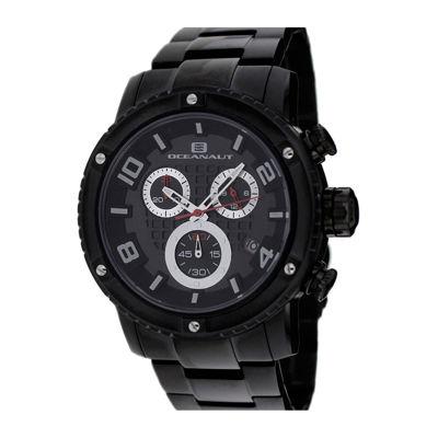 Oceanaut Mens Impulse Black Stainless Steel Bracelet Watch