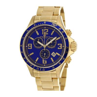 Oceanaut Mens Baltica Blue Dial Gold-Tone Stainless Steel Watch