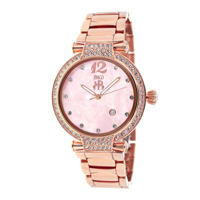 Jivago Womens Bijoux Pink Faux Pearl Bracelet Watch