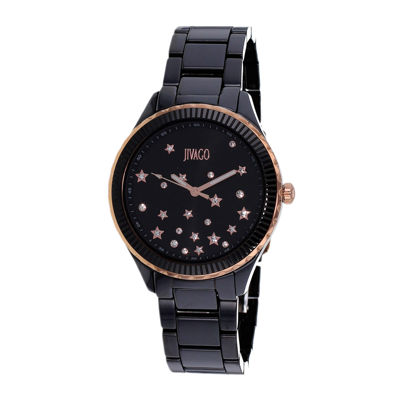 Jivago Womens Sky Black Bracelet Watch