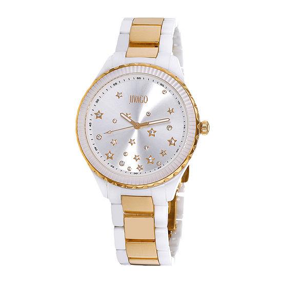 Jivago Sky Womens White Ceramic Bracelet Watch
