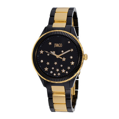 Jivago Sky Womens Black Ceramic Bracelet Watch
