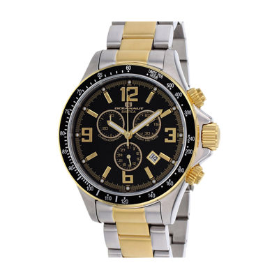 Oceanaut Baltica Mens Black Dial and Two-Tone Bracelet Watch