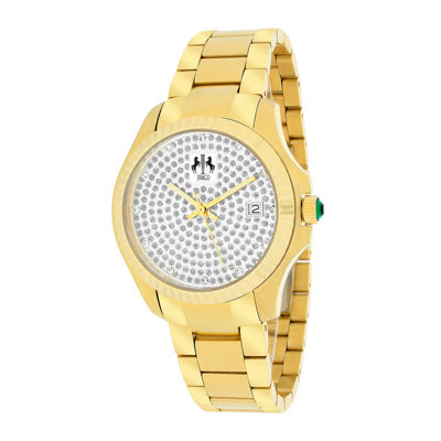 Jivago Jolie Womens Gold-Tone Stainless Steel Bracelet Watch
