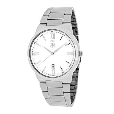 Jivago Clarity Mens Silver-Tone Stainless Steel Watch
