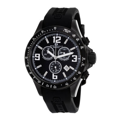 Oceanaut Baltica Mens Black Rubber Strap Watch