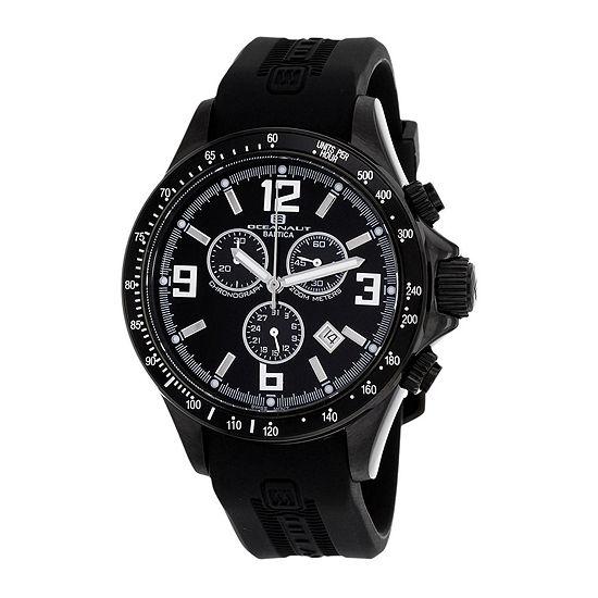 Oceanaut Baltica Mens Black Rubber Strap Watch
