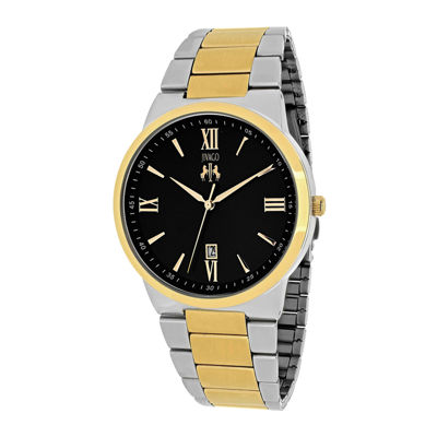 Jivago Clarity Mens Black Dial and Two-Tone Stainless Steel Watch