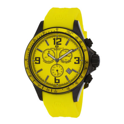 Oceanaut Baltica Mens Yellow Rubber Strap Watch
