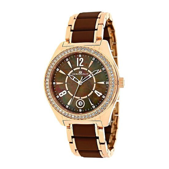 Oceanaut Pearl Womens Brown Mother-of-Pearl Dial and Rose-Tone Bracelet Watch