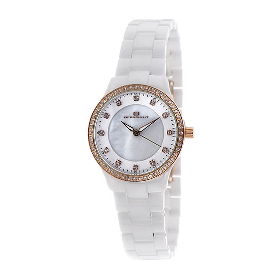 Oceanaut Ceramic Womens Mother Of Pearl Dial And White Ceramic Bracelet Watch