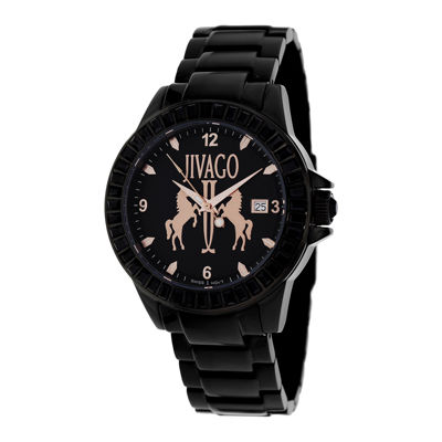 Jivago Womens Folie Black Bracelet Watch